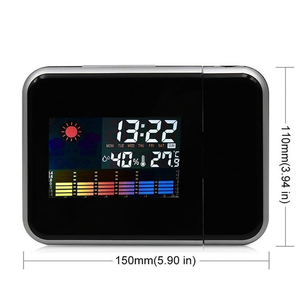 L'orologio di proiezione dell'orologio elettronico dell'orologio di modo creativo LED snooze lo schermo di sveglia , black naozhong