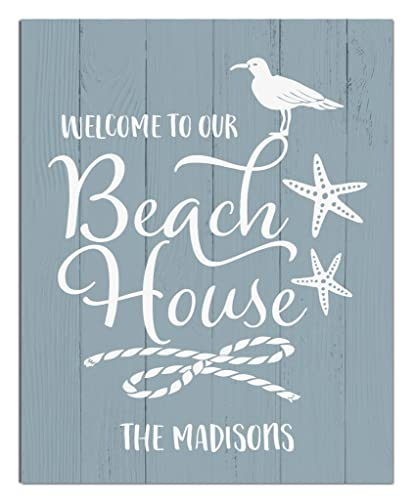 Amazon.com: Beach House Paper Art Print   Personalized Home Decor   Wedding  Gift   Housewarming Gift   Rustic Decor   Beach Decor   Wall Decor    Coastal ...
