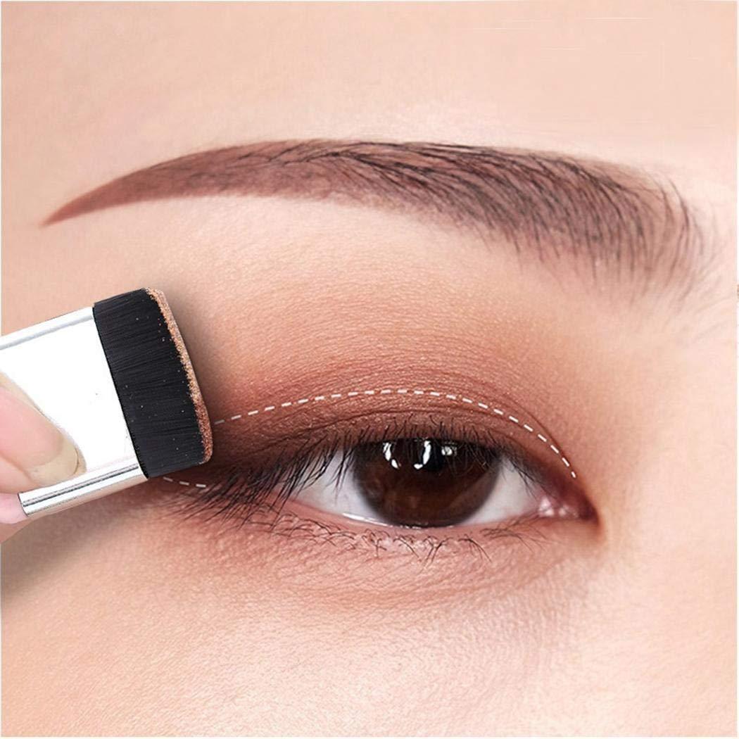 KOKOBUY 2 Colors Lazy Eyeshadow Powder Waterproof Shimmer Makeup Palette With Brush