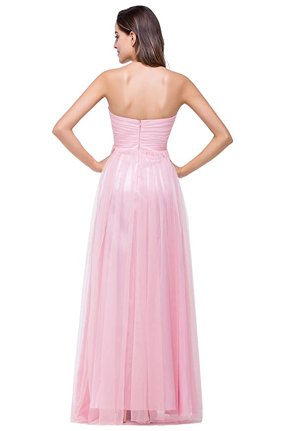 Babyonline Vestido largo elegante para mujer, vestido largo de ...