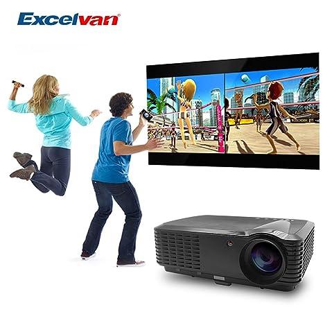 Excelvan 5,8 pulgadas, pantalla LCD para vídeo Proyector LED HD ...