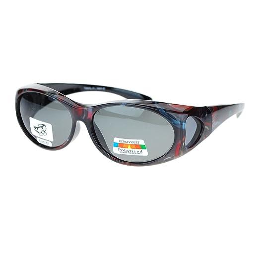 amazon com womens glare blocking polarized lens 60mm fit over oval Glasses Sunglasses womens glare blocking polarized lens 60mm fit over oval sunglasses dark red