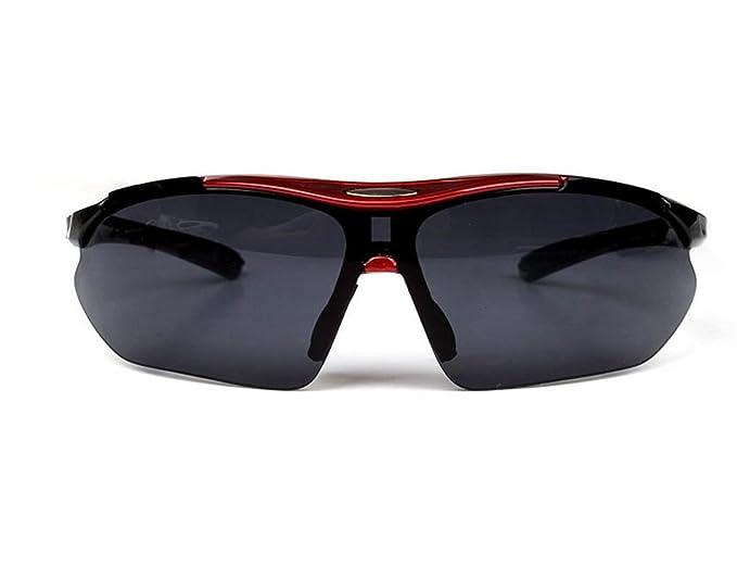 GSHGA Sonnenbrille Sport Boo Cool Männer Und Frauen Im Freien Reitglas,Sandblackgraylenses