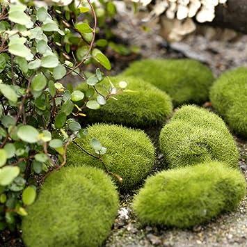 10 Piezas de Rocas Artificiales de Musgo Piedras de imitación Decorativas para arreglos Florales, Jardines de Hadas, terrarios y artesanías, 4 tamaños: Amazon.es: Hogar