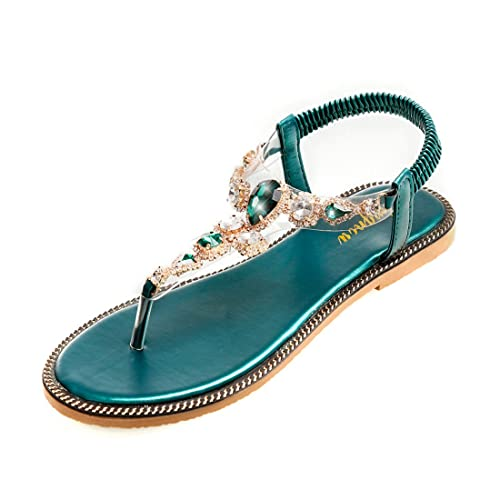 fa21e913591 APTRO Femme Chaussures Tongs Sandales Plates Basse de Plage de ...