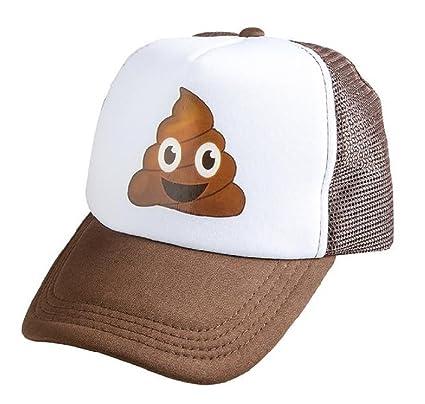 0e7d0de4131b Amazon.com  Novelty Treasures Brown Emoji Poop Trucker Cap  Toys   Games