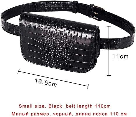 HAOLIEQUAN Vintage Waist Bag Women PU Leather Belt Bag Waist Pack Travel Belt Wallet Fanny Bags Ladies Fit 5.5 Pulgadas Teléfonos, Black2: Amazon.es: Deportes y aire libre
