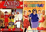 Musical Family Fun 3-Movie Set: Annie Double Feature (Annie / Annie: A Royal Adventure) & Hairspray 2-Disc Shake & Shimmy Edition Bundle