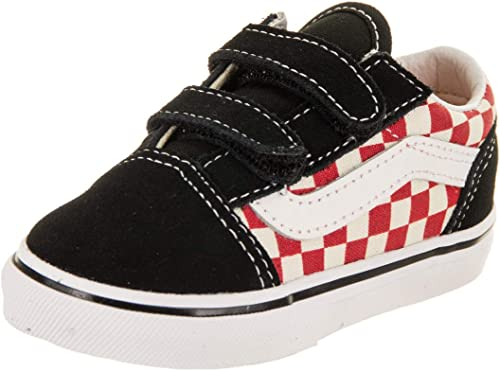vans checkerboard rouge