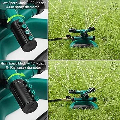 Riemex Garden Sprinkler 360 Degree Rotating Lawn Automatic Garden Water Sprinklers Irrigation System
