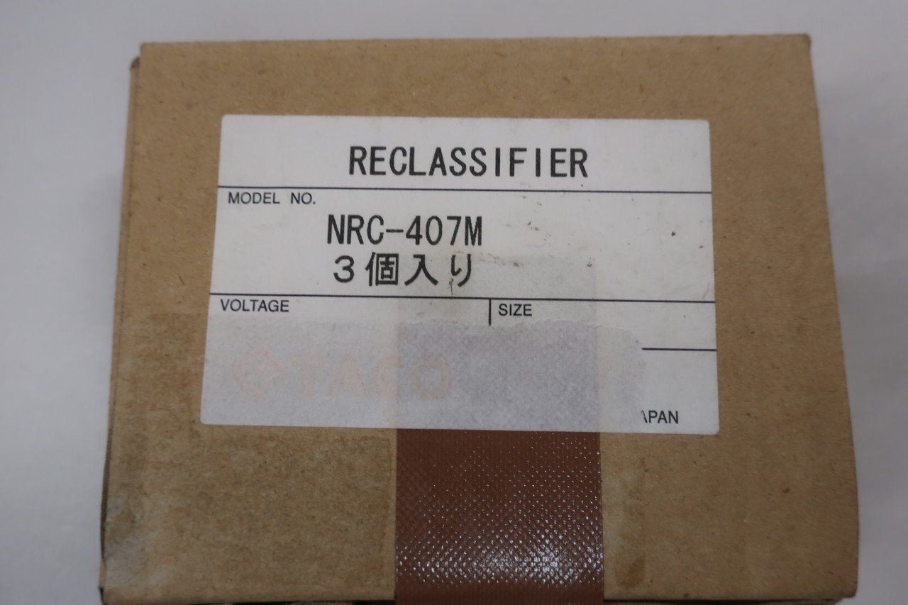 Box of 3 New TACO NRC-407M RECLASSIFIER Elbow Fitting R1//8 X 1//4IN Tube D604552