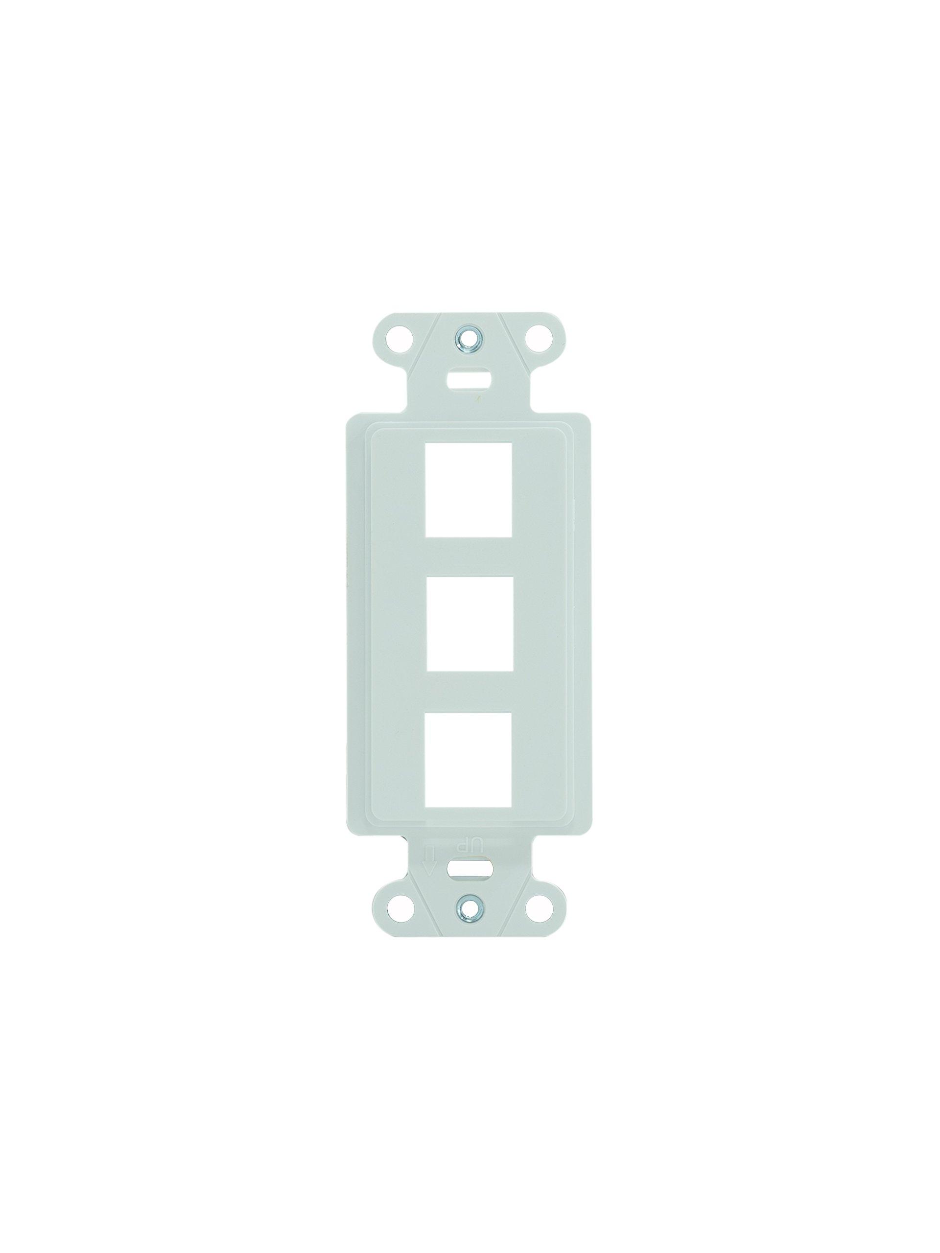 Legrand - On-Q WP3413WH 3-Port Keystone Decorator Strap, White, 10 Pack