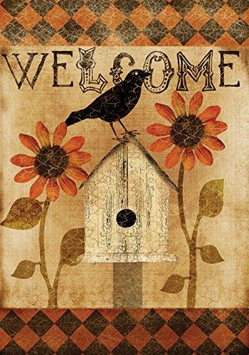 Toland Home Garden Harlequin Crow 12.5 x 18 Inch Decorative