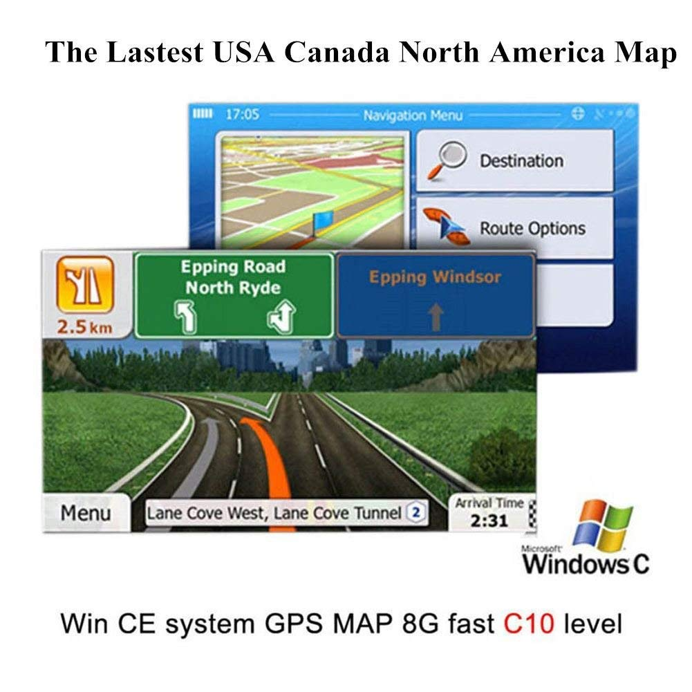 GPS Navigation Map Card Android 4.4-7.1 System North America USA + Canada Android System