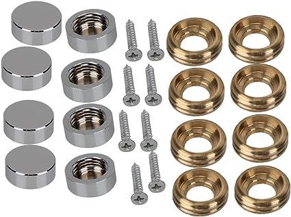 a13062600ux0607 Lot de 8 bouchons /à vis en acier inoxydable effet miroir 16 mm