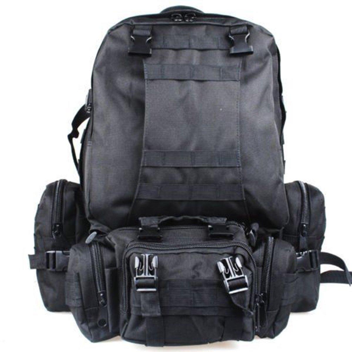 50L Outdoor Hiking Durable Bag Black Camping Travel Waterproof Mountaineering Backpack hot sale 2017