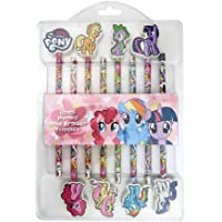 My Little Pony 11501A 8 pcs Pencil & Eraser Topper, Pink