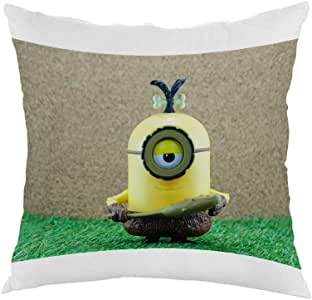 Cartoon character Printed Pillow, white velvet Fabric 40X40 cm