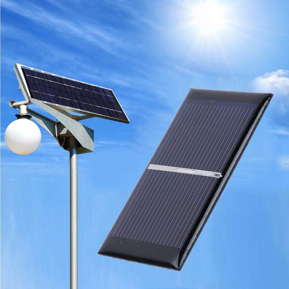 Alomejor 0.3W 0.5V Mini Pannello Solare Fotovoltaico Policristallino Pannello Solare Portatile Fai-da-Te per Progetti Scientifici 2Pcs Set Nero