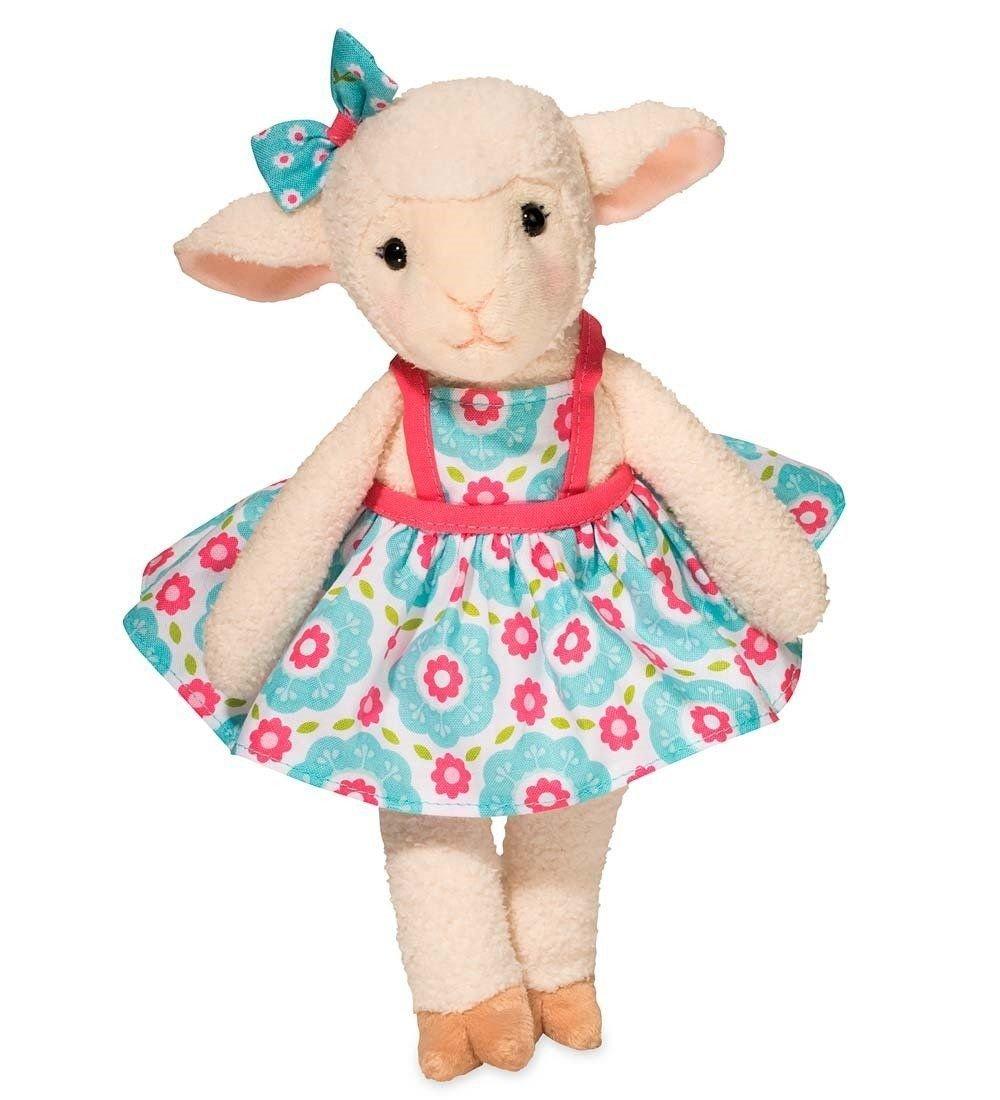 Dressed-Up Spring Plush, Iris Lamb