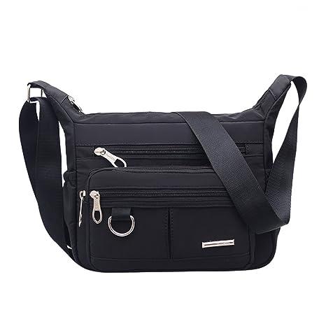 556cbbea0f Canvas Messenger Bag Girls Women Large Capacity Bag College School Bag  Crossbody Shoulder Bag Fashion Black …