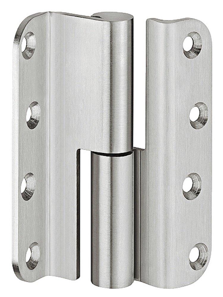 Gedotec charnière à charnière pour porte battante Startec H3052 pour portes renforcées | Stop: DIN droite | Charnière de porte en acier inoxydable mat | Capacité jusqu'à 60 kg | 1 pièce GedoTec®