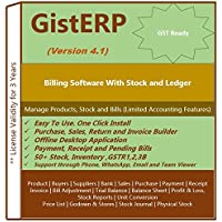 Billing, Accounting and Inventory Software For Retail Shop and Small Business (With Repairing & Warranty Modules)- GistERP