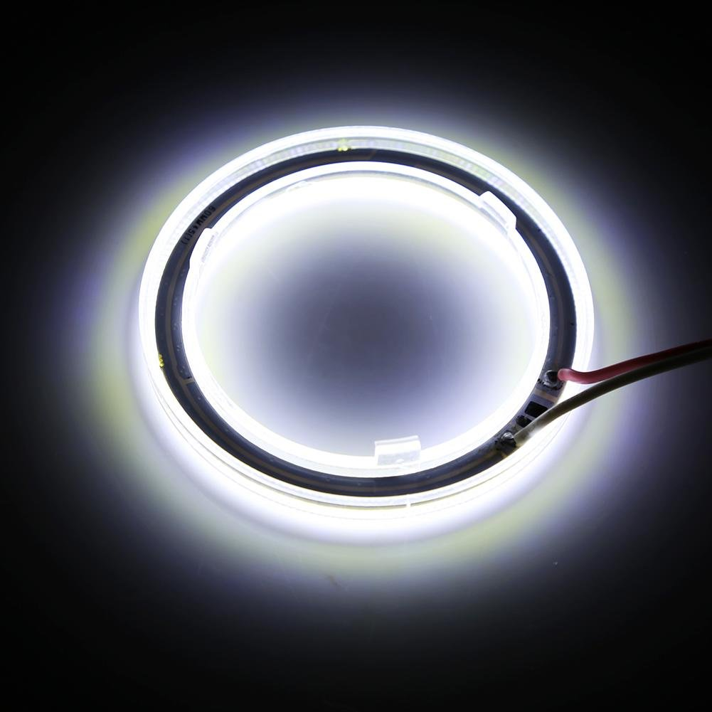 100mm 1 par Auto Halo Rings Angel Eye COB Chips Faros DRL LED Chips Car Light para motocicleta