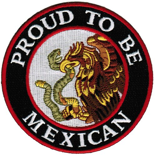 Proud To Be Mexican Embroidered Patch Mexico Flag Iron-On Eagle Snake Biker (Mexican Iron)
