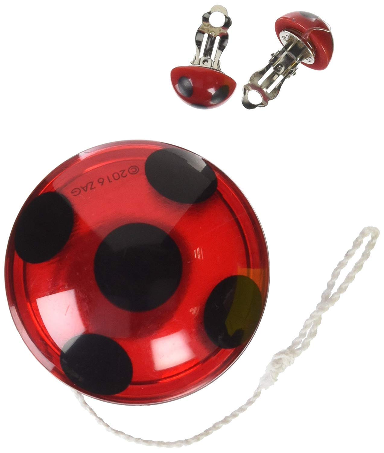 Rubie's Costume Miraculous Ladybug Yo-Yo and Clip-On Earrings