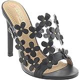 DbDk AG92 Women's Mule Slip On Floral Stiletto Heels Dress Sandals