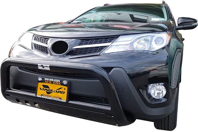 VANGUARD VGUBG-0665BK Multi-fit Bumper Guard Black Bull Bar with Skid Plate