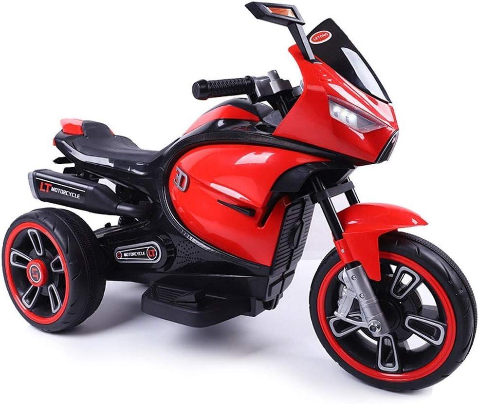 De los niños de la motocicleta del coche eléctrico triciclo grande del juguete del coche del niño puede sentarse Hombres Y Mujeres coche de bebé batería se puede cargar paseo en vehículos Niño Niña Ni