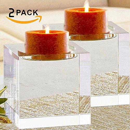 Crystal Pillar Candle Holder (Amazing Home Huge Crystal Pillar Candle Holders 4