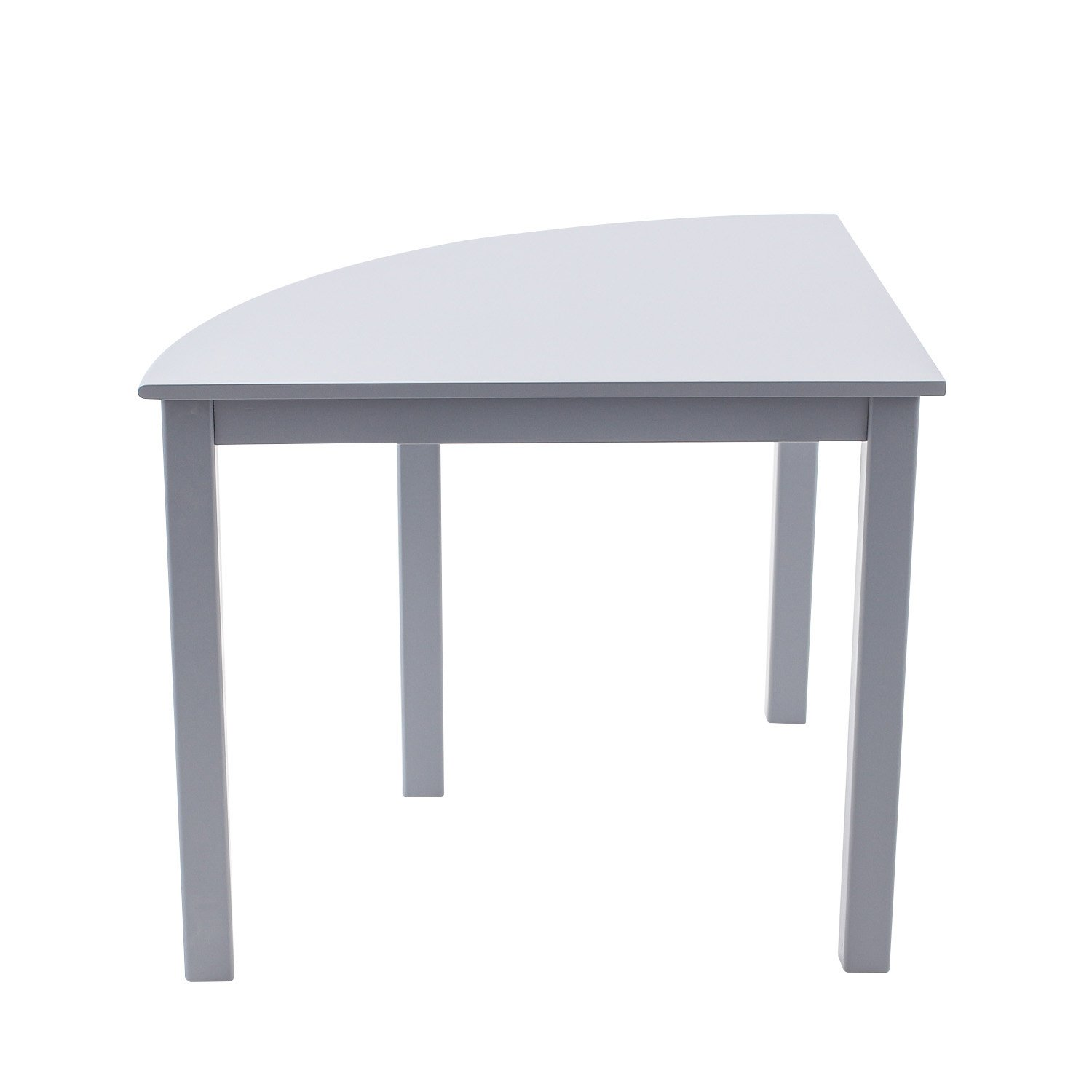 Amazon.com: Max U0026 Lily Natural Wood Kid And Toddler Quarter Round Table,  Grey: Toys U0026 Games