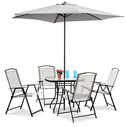 Beau CASTLECREEK Complete Patio Dining Set 6 Pieces