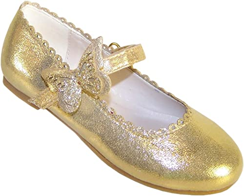 Butterfly Trim Party Ballerina Shoes