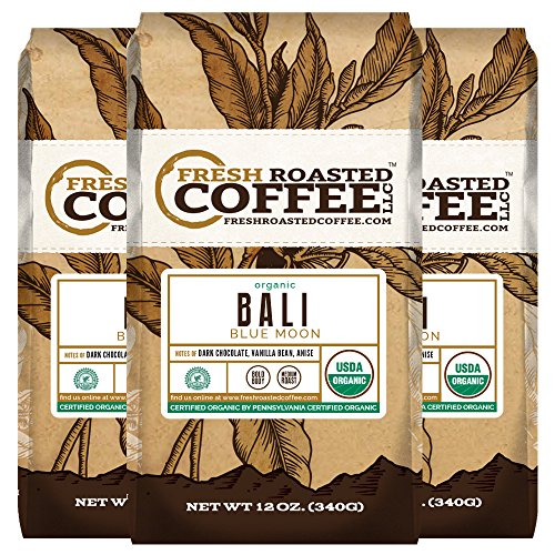ic, Rain Forest Alliance, Fresh Roasted Coffee LLC. (12 oz. 3pk Ground) (Blue Moon Chocolate)