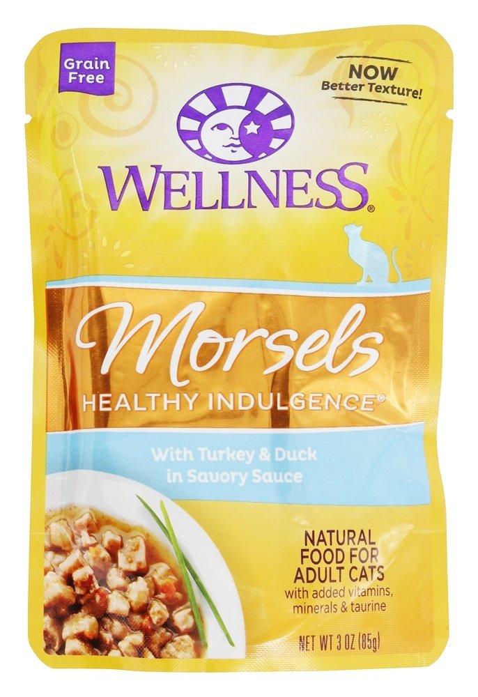 Wellness Pet - Grain Free Morsels Healthy Indulgence Adult Cat Food Turkey & Duck in Savory Sauce - 3 oz.