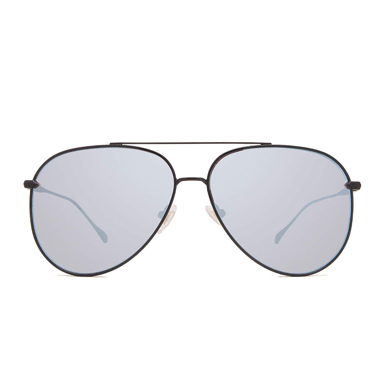 78540ae55 Amazon.com: DIFF Eyewear - Nala - Designer Aviator Sunglasses for Men &  Women - 100% UVA/UVB [Polarized] (Becca Kufrin Black + Blue Flash): Clothing