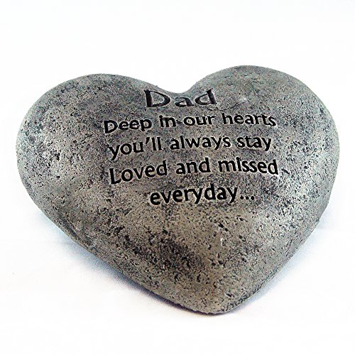 Pavilion Gift Company 19060 Light Your Way Memorial Garden Stone 10-Inch Beloved Father