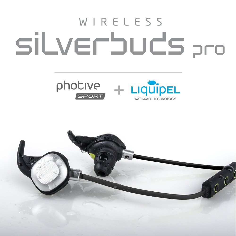 d081cb3e93e Amazon.com: Photive PH-BTE26 Sweat-Proof Wireless Bluetooth Earbuds with 10  Hour Battery. Noise Isolating Lightweight Secure Fit Sports Headphones.