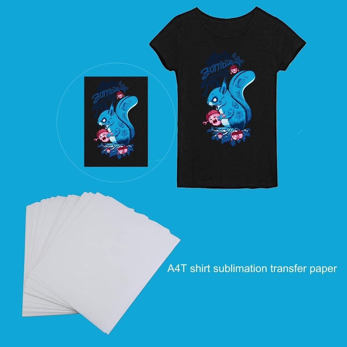 100 ST/ÜCKE A4 Sublimationsdruck Papier F/ür Polyester Baumwolle T-Shirt Aufb/ügeln Transferpapier W/ärmedruck Transfer Zubeh/ör