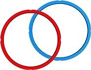 Genuine Instant Pot Sealing Ring 2-Pack - 6 Quart Red/Blue