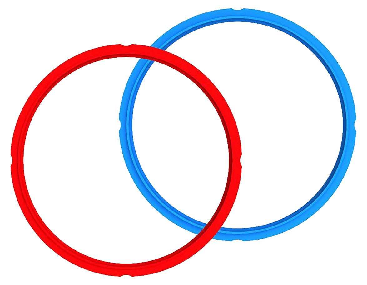 Genuine Instant Pot Sealing Ring 2-Pack - 6 Quart Red/Blue by Instant Pot