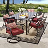 Better Homes and Gardens Carter Hills 7-Piece Dining Set, Maroon