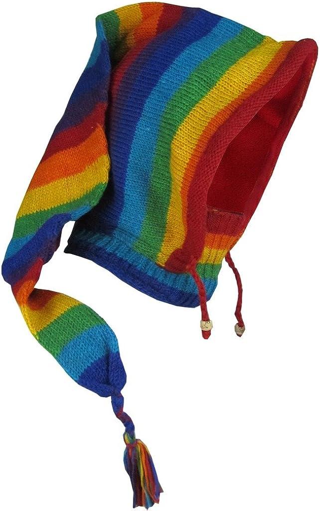 Gheri Woolen Fleece Lined Pixie Pointed Long Snood Hood Neckwarmer Hat