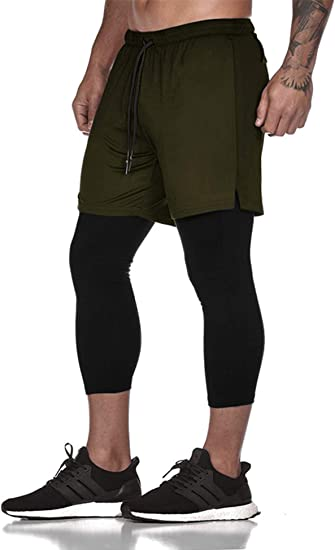 Mens Solid Losse Quick-dry Shorts Pants Fitness Sports Running Bottoms Trousers