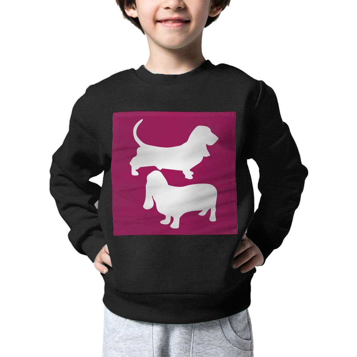 AW-KOCP Childrens Basset Hound Sweater Boys Girls Outerwear