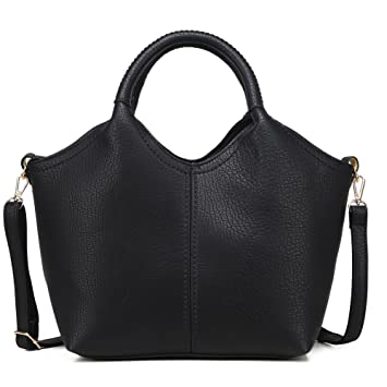 d6f35c8d1d Buy Tote Purses and Handbags Set For Women Top-Handle Bags Crossbody  Satchel Over The Shoulder For Ladies with Long Strap Pu Leather (Black) By  Kemy S ...